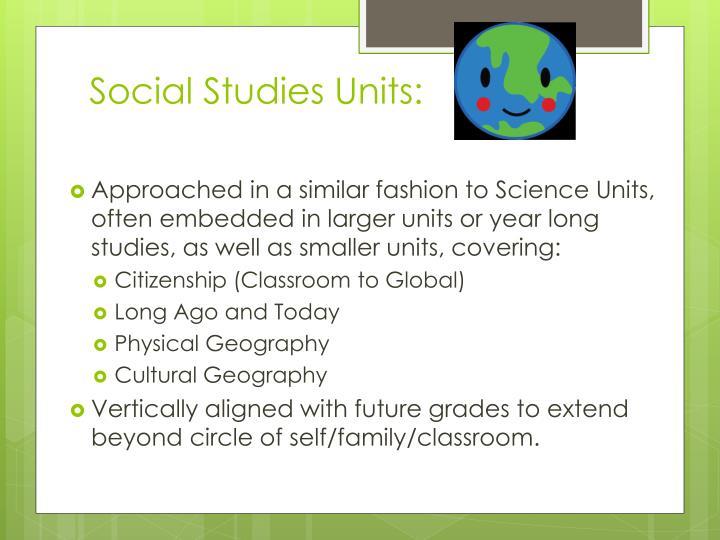 Social Studies Units: