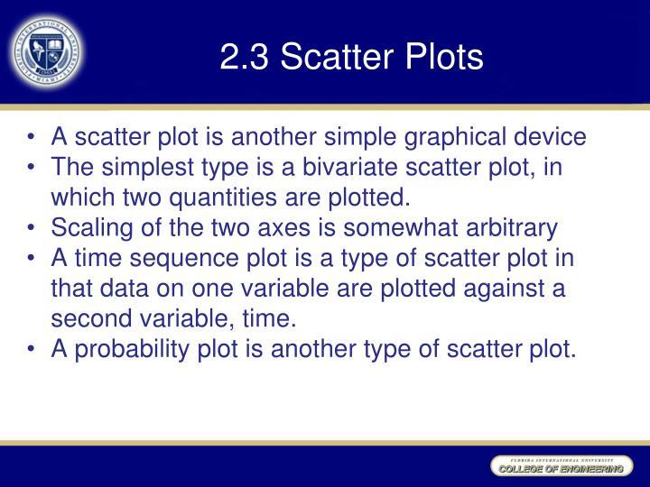 2.3 Scatter Plots