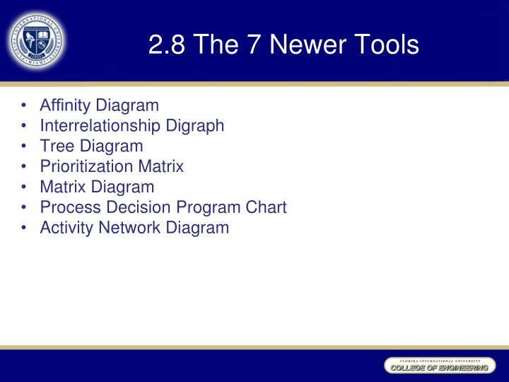 2.8 The 7 Newer Tools