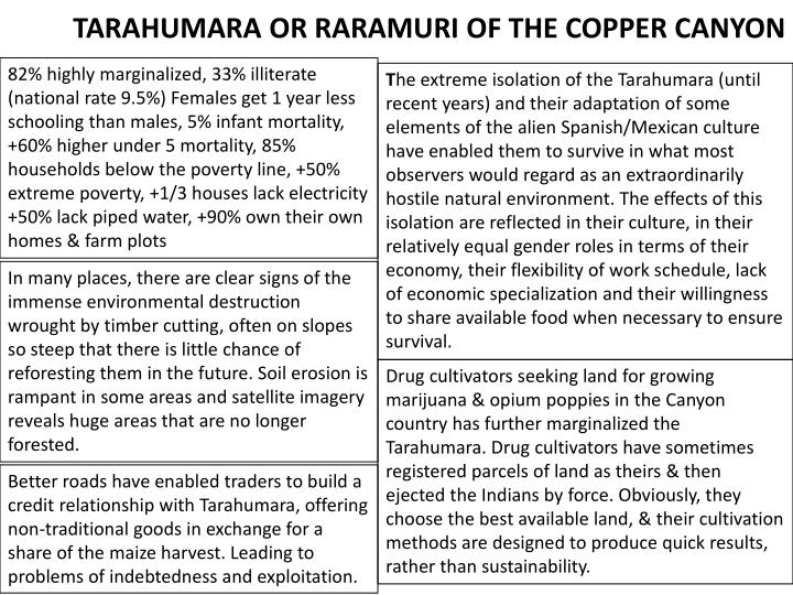 TARAHUMARA OR RARAMURI OF THE COPPER CANYON
