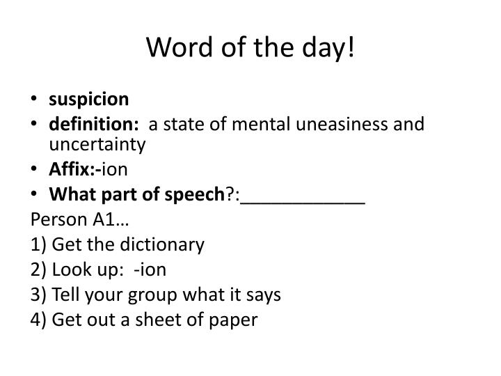 Word of the day!