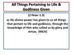 all things pertaining to life godliness given