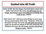 guided into all truth