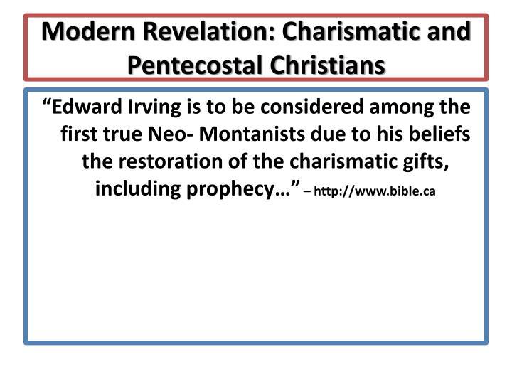 Modern Revelation:
