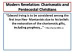 modern revelation charismatic and pentecostal christians