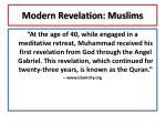 modern revelation muslims