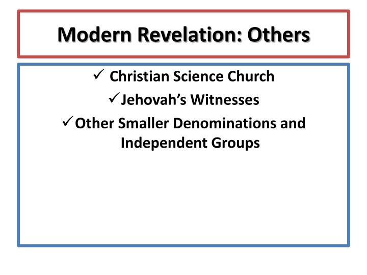 Modern Revelation: Others