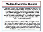 modern revelation quakers