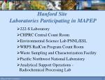 hanford site laboratories participating in mapep