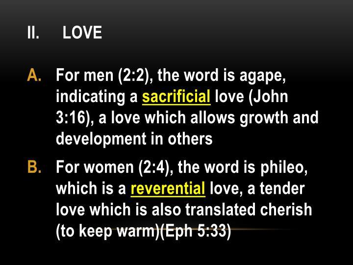 II. Love