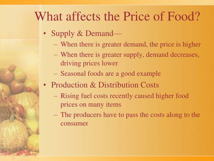 What affects the price of food