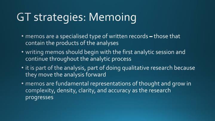 GT strategies: