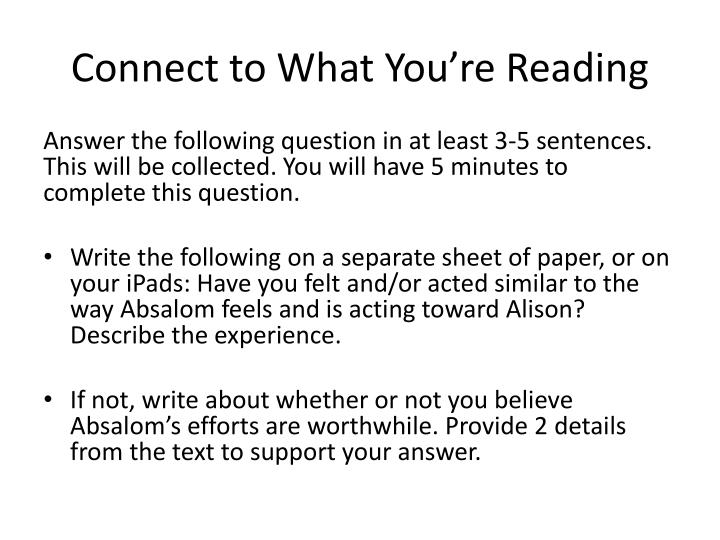 Connect to What You're Reading