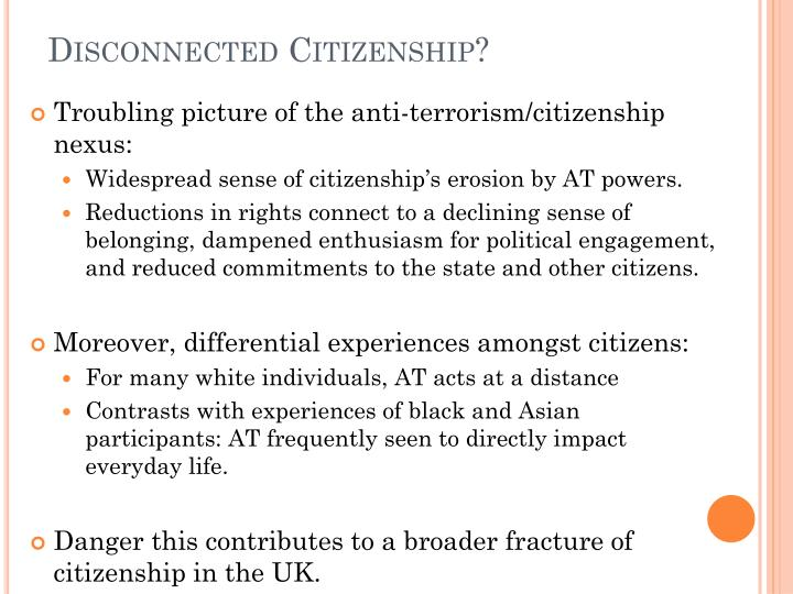 Disconnected Citizenship?