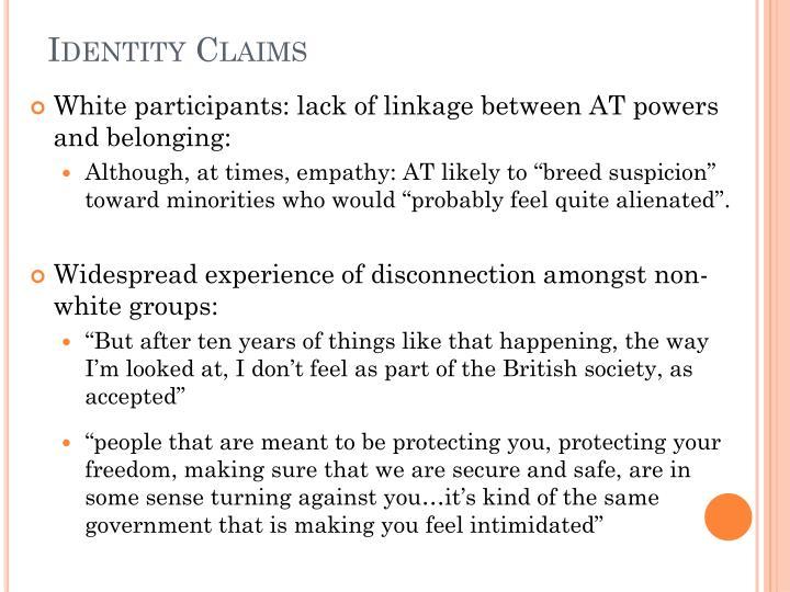 Identity Claims