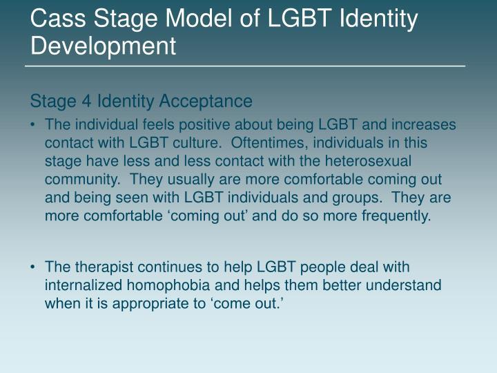 Cass Stage Model of LGBT Identity Development