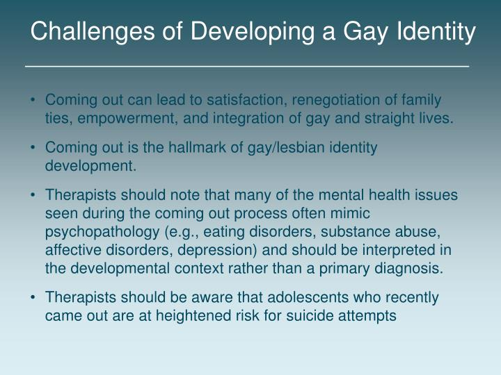 Challenges of Developing a Gay Identity