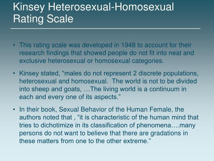 Kinsey Heterosexual-Homosexual Rating Scale
