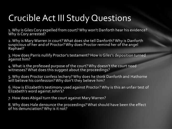 Crucible Act III