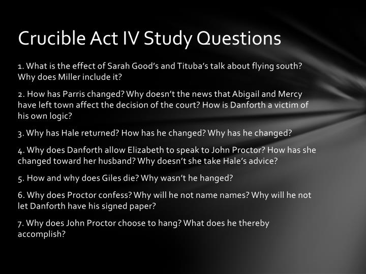 Crucible Act IV Study Questions