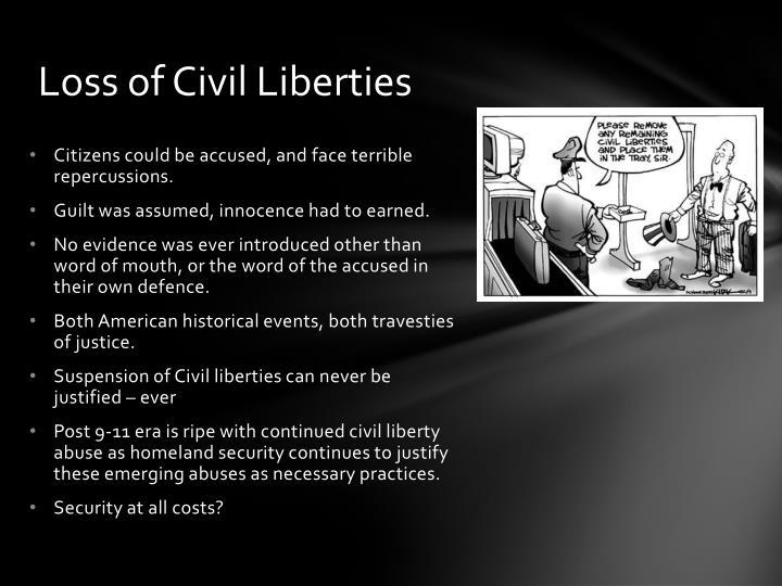 Loss of Civil Liberties