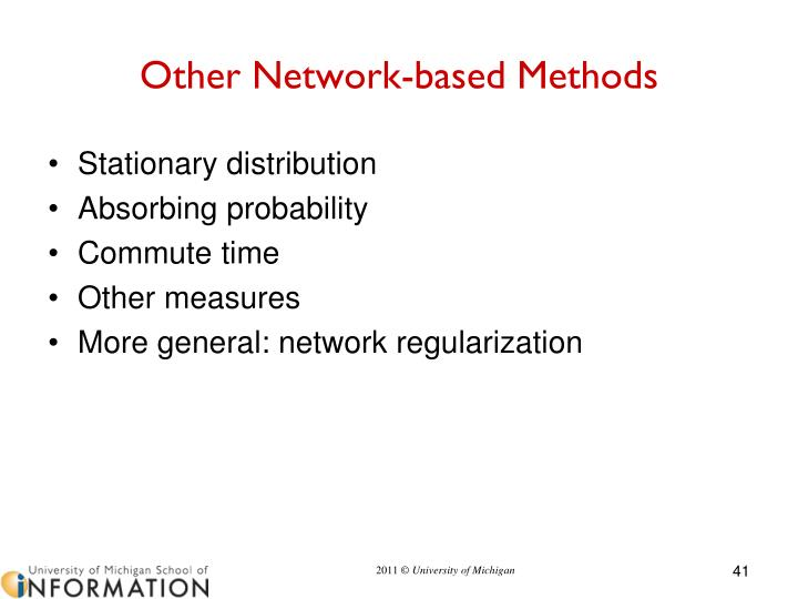 Other Network-based Methods
