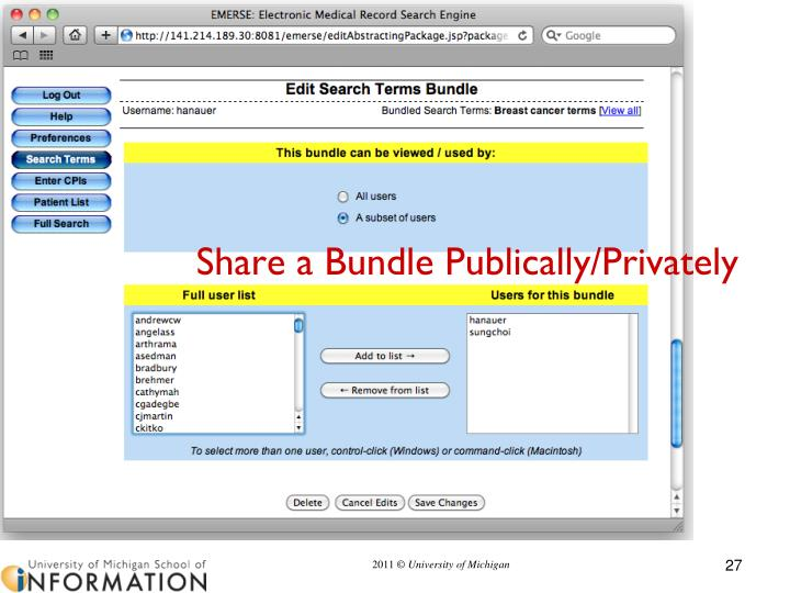 Share a Bundle Publically/Privately