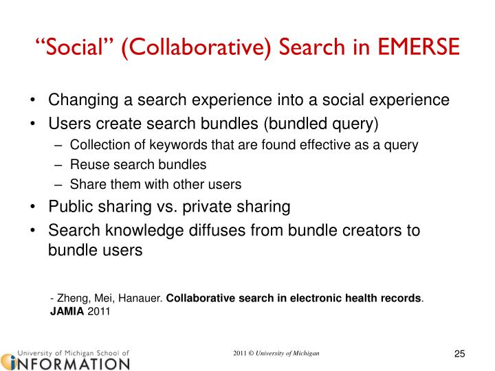 """Social"" (Collaborative) Search"