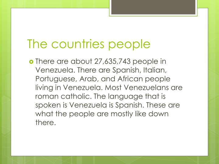 The countries people