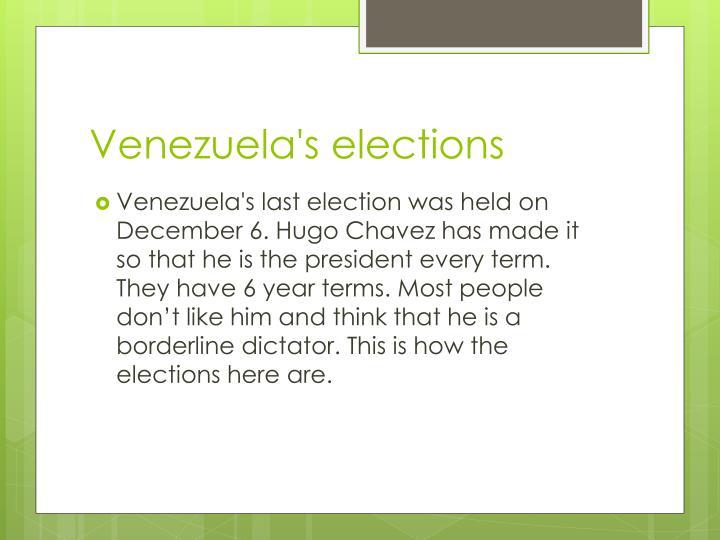 Venezuela's elections