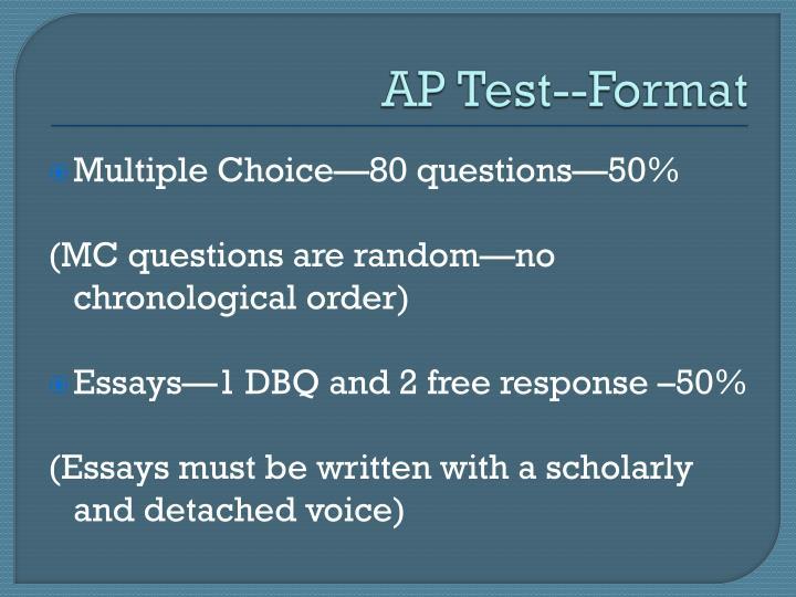 AP Test--Format