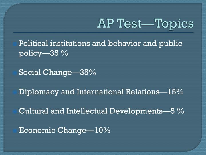 AP TestTopics