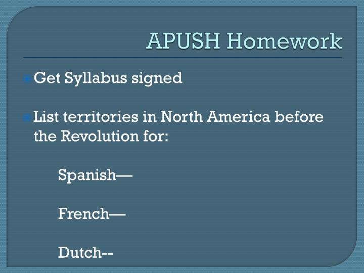 APUSH Homework