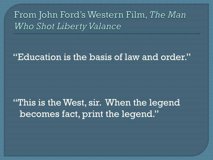From John Fords Western Film,