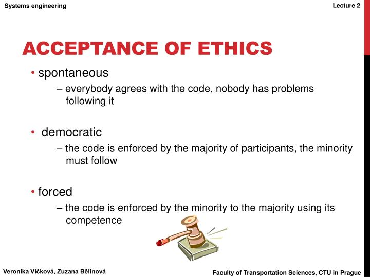 acceptance of ethics