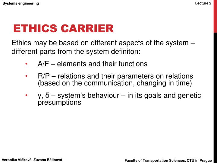 ethics carrier