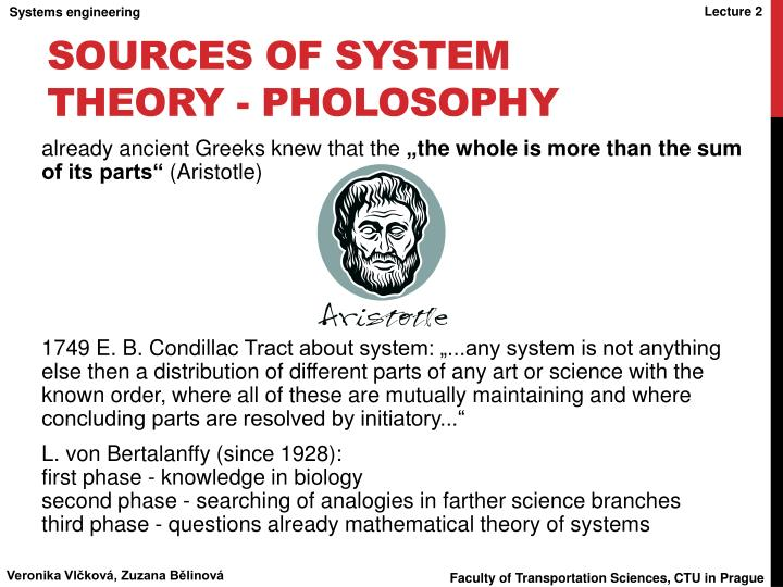 Sources of system theory