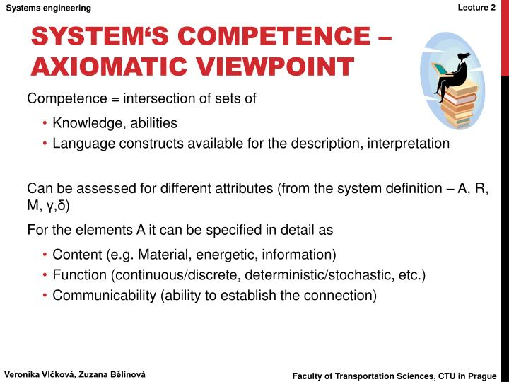 System's competence – axiomatic viewpoint