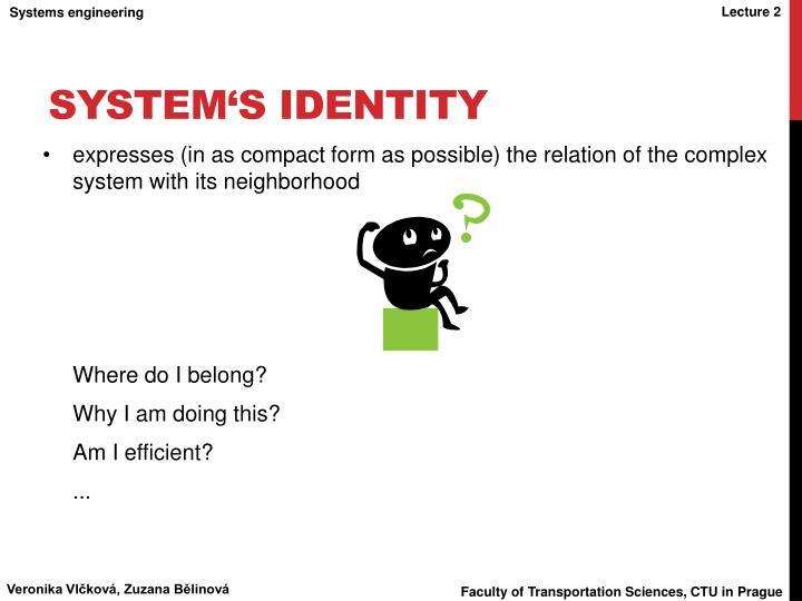 System's Identity