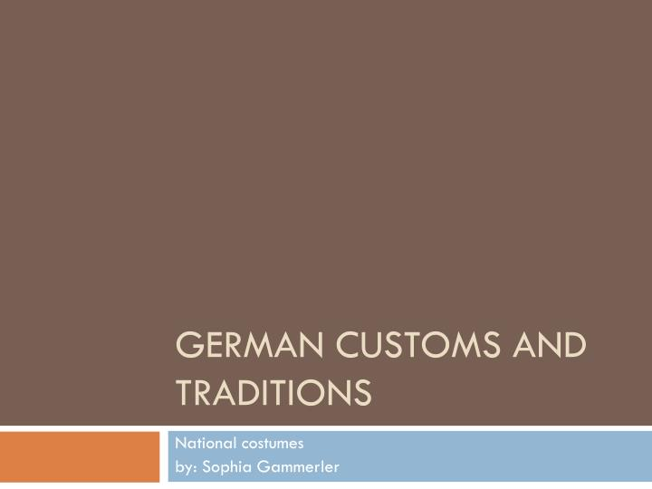 german dating customs and culture
