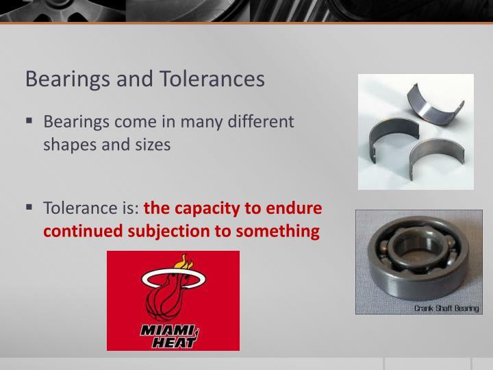 Bearings and Tolerances