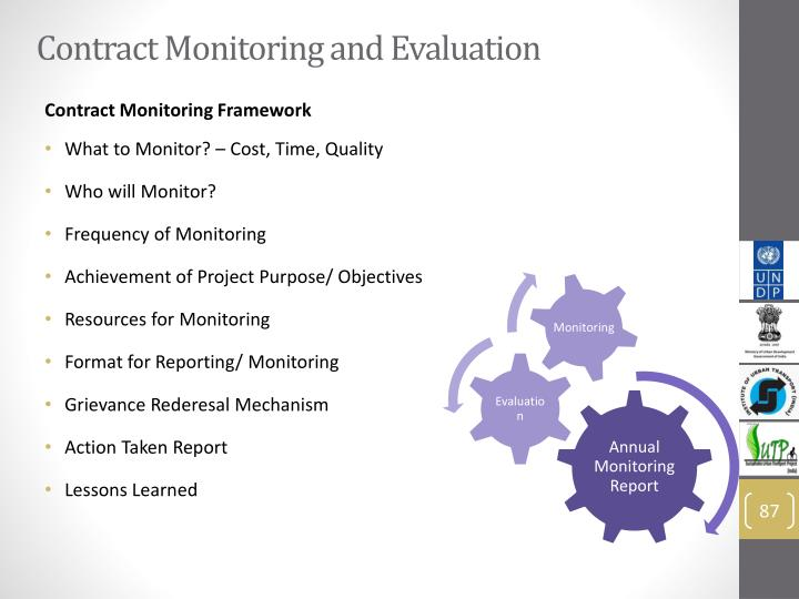 Contract Monitoring and Evaluation