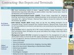 contracting bus depots and terminals