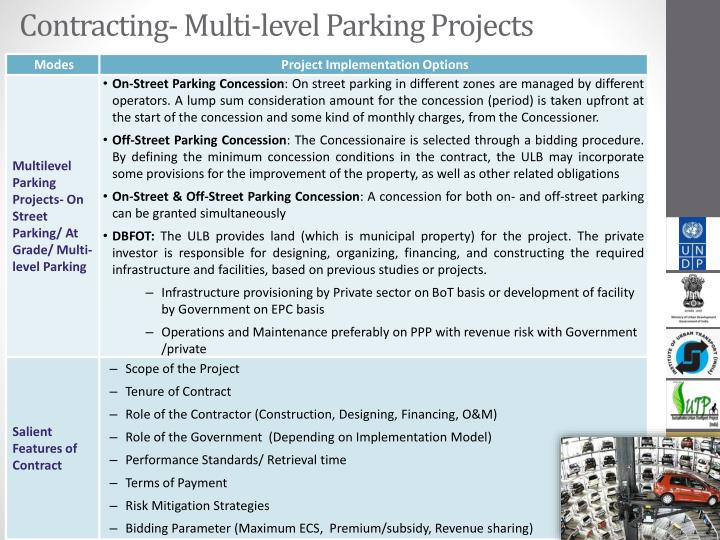 Contracting- Multi-level Parking Projects