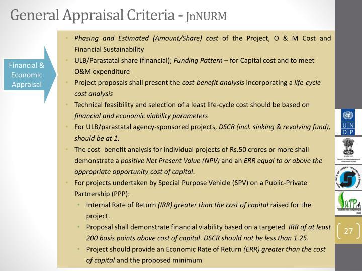 General Appraisal Criteria -