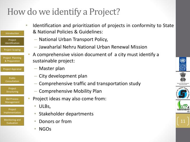 How do we identify a Project?