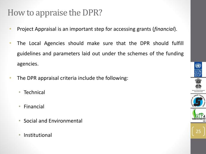 How to appraise the DPR?
