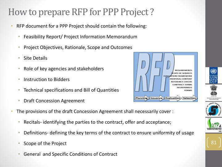 How to prepare RFP for PPP Project ?
