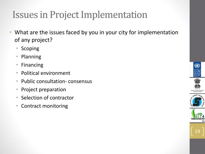 Issues in Project Implementation