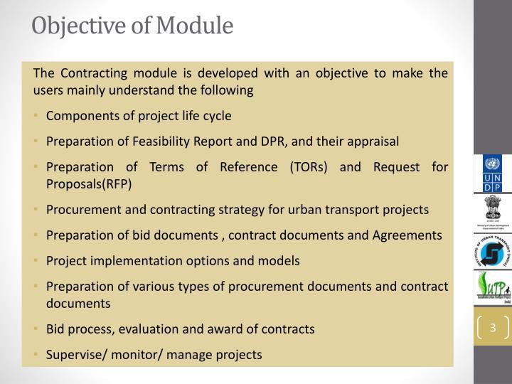 Objective of Module